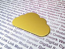 Golden Cloud on Digital Technology background Royalty Free Stock Image
