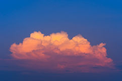 Golden clouds Royalty Free Stock Image