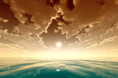 Golden clouds Royalty Free Stock Photography