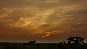 Golden clouds sunset. stock footage