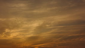 Golden clouds sunset. stock video