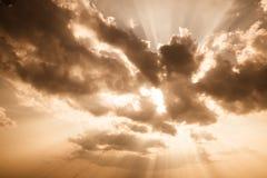 Golden Cloudscape Stock Image
