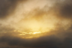 Golden cloudscape at sunset Stock Photography