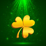 Golden clover in the magic light Stock Photography