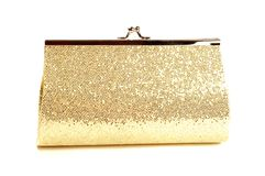 Golden clutch Stock Image