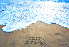 Golden coast sign in spanish Stock Image