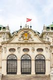 Golden coat of arms of Austria on Belvedere Palace, Vienna. EU Stock Photo