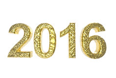 2016 In Golden Coating isolated on a white background Stock Photography
