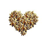 Golden Cockades Heart Royalty Free Stock Images