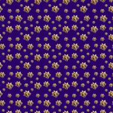 Golden Cockades Seamless Pattern Stock Images