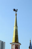 The Golden Cockerel on the steeple Izmailovo Kremlin Stock Photo