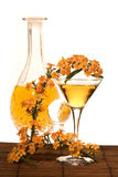 Golden cocktail Stock Images