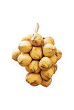 Golden Coconut isolated on white Royalty Free Stock Photo