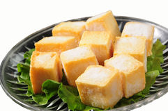 Golden cod bean curd Stock Photo