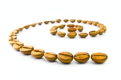 Golden coffee Stock Image