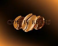 Golden coffee beans Royalty Free Stock Photos