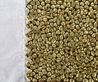 Golden coffee Stock Image