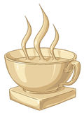 Golden Coffee Cup. Golden award to the best coffee drinker Royalty Free Stock Images