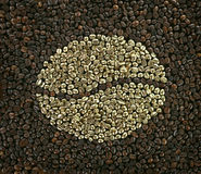 Golden coffee Stock Photography