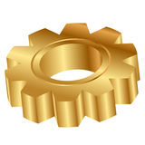 Golden cog wheel Royalty Free Stock Photo