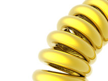 Golden coil Stock Images