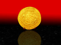 Golden coin 1617 Stock Photography
