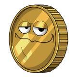 The golden coin Stock Photo