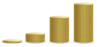 Golden coin Stock Photos