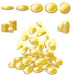 Golden coin Royalty Free Stock Images