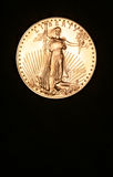 Golden Coin, American Eagle. Copy Space at Bottom royalty free stock photography