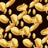 Golden coin background Royalty Free Stock Image
