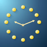 Golden coin clock Royalty Free Stock Photos