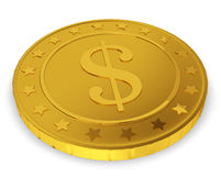 Golden coin Royalty Free Stock Image