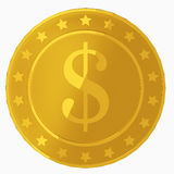 Golden coin Stock Image
