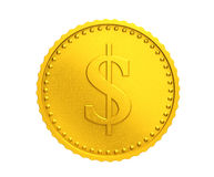 Golden coin with dollar sign Royalty Free Stock Image