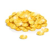 Golden coin heap Royalty Free Stock Image