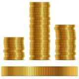Golden coin side template Stock Photos