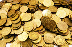 golden coin stacks Royalty Free Stock Photos