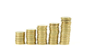 Golden Coin Tower Stock Image