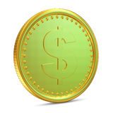 Golden Coin on white background Stock Images