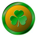 Isolated golden coin. Golden coin on a white background, Patrick day vector illustration Stock Photos