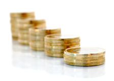 Golden coins Royalty Free Stock Photos