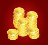Golden coins Royalty Free Stock Photos