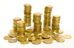 Golden coins Royalty Free Stock Photo