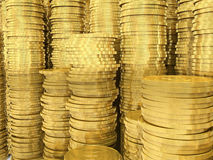 The golden coins Stock Photography