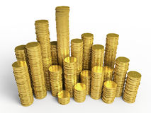 The golden coins Royalty Free Stock Photography