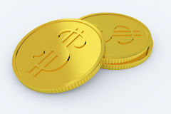 Golden coins Royalty Free Stock Image