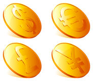 Golden coins. Stock Images