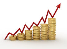 Golden coins Stock Images