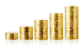 Golden coins. Stock Image